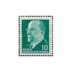1 عدد تمبر سری پستی - والتر اولبریچ - 10 -  جمهوری دموکراتیک آلمان 1961