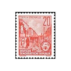 1 عدد تمبر سری پستی  - 20 -  جمهوری دموکراتیک آلمان 1955