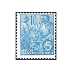 1 عدد تمبر سری پستی  - 10 -  جمهوری دموکراتیک آلمان 1955