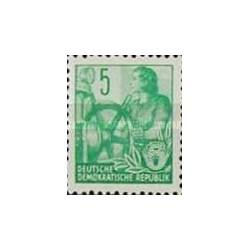1 عدد تمبر سری پستی  - 5 -  جمهوری دموکراتیک آلمان 1953