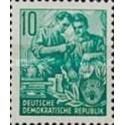 1 عدد تمبر سری پستی  - 10 -  جمهوری دموکراتیک آلمان 1953