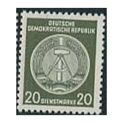 1 عدد تمبر خدمات - 20 -  جمهوری دموکراتیک آلمان 1954