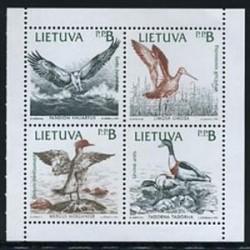 سونیرشیت تمبر مشترک سوئد - لیتوانی 1992