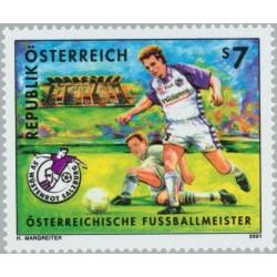 1 عدد تمبر قهرمان فوتبال اتریش - سالزبورگ - اتریش 2001