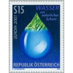 1 عدد تمبر مشترک اروپا - Europa Cept  - آب  - اتریش 2001 قیمت 3.5 دلار