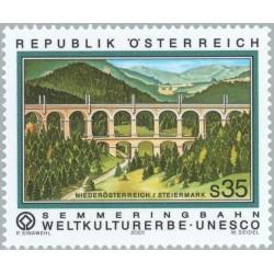 1 عدد تمبر راه آهن سمرینگ  - اتریش 2001 قیمت 5.8 دلار