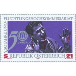 1 عدد تمبر 50مین سالگرد کمیساریال عالی پناهندگان سازمان ملل - اتریش 2001 قیمت 3.5 دلار