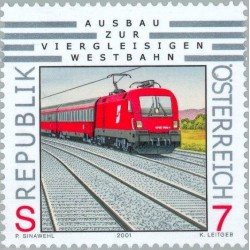 1 عدد تمبر راه آهن سریع السیر  - اتریش 2001