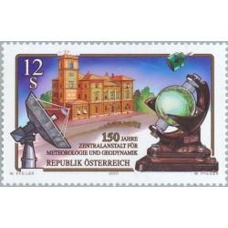 1 عدد تمبر 150مین سالگرد موسسه مرکزی هواشناسی و ژئودینامیک - اتریش 2001