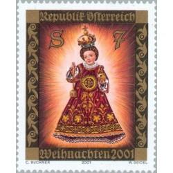 1 عدد تمبر کریستمس - اتریش 2001