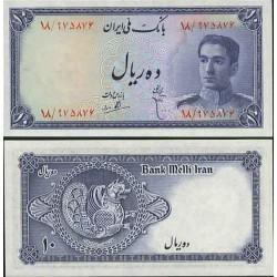 098 - جفت اسکناس 10 ریال ابوالحسن ابتهاج - علی بامداد 1327 - 1330