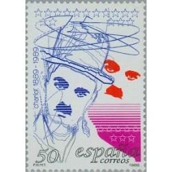 1 عدد تمبر صدمین سال تولد چارلی چاپلین - اسپانیا 1989