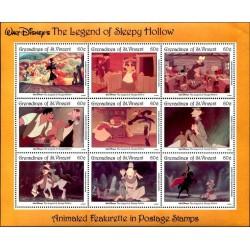 مینی شیت فیلمهای کارتونی والت دیسنی  - پوک خواب آلود - گرندین سنت وینسنت 1992 قیمت 9 دلار