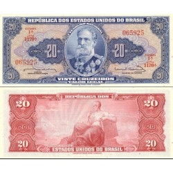 اسکناس 20 کروزرو  - برزیل 1963