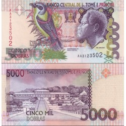اسکناس 5000 دوبراس - سائو تام و پرینسپ 2004