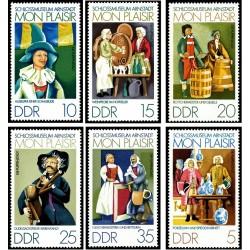 6 عدد تمبر موزه قصر آرنشتات - تابلو - جمهوری دموکراتیک آلمان 1974