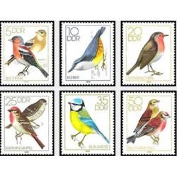 6 عدد تمبر پرندگان آواز خوان - جمهوری دموکراتیک آلمان 1979