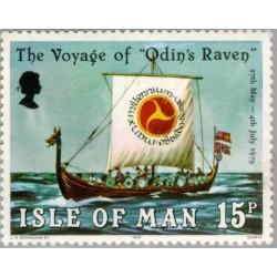 1 عدد تمبر سفر اودین راون - جزیره من 1979