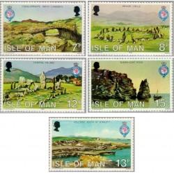 5 عدد تمبر 150مین سال تاسیس انجمن جغرافی سلطنتی - جزیره من 1980
