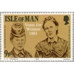 1 عدد تمبر حق رای زنان -  جزیره من 1981