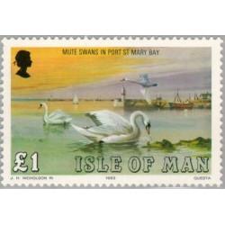 1 عدد تمبر سری پستی - مرغابیها -  جزیره من 1983 قیمت 5.9 دلار