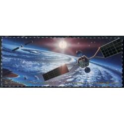 2 عدد تمبر کنفرانس اکتشاف و استفاده دوستانه از فضای جو - UNISPACE III -  وین سازمان ملل 1999