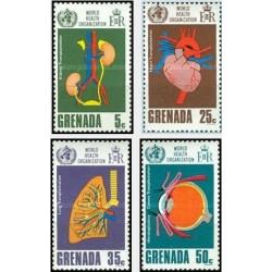 4 عدد تمبر 20مین سالروز سازمان بهداشت جهانی  - گرنادا 1968