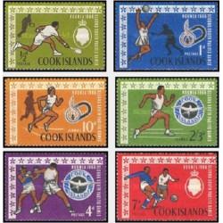 6 عدد تمبر بازیهای اقیانوس آرام جنوبی  - جزایر کوک 1967