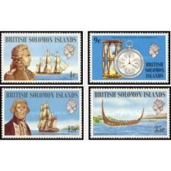 4 عدد تمبر کشتیها و ناخداها - جزایر سلیمان 1973 قیمت 8.3 دلار