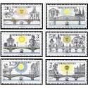 6 عدد تمبر نمایشگاه بین المللی تمبر پراگ - پلهای پراگ - چک اسلواکی 1978