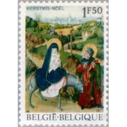 1 عدد تمبر کریستمس - بلژیک 1971