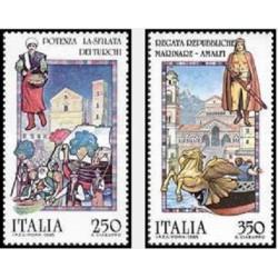 2 عدد تمبر جشن اقوام - ایتالیا 1985 قیمت 3.5 دلار