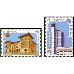 2 عدد تمبر مشترک اروپا - Europa Cept - ادارات پست - اسپانیا 1990