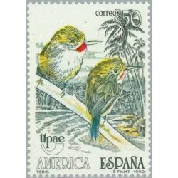 1 عدد تمبر UPAEP آمریکا - اسپانیا 1990