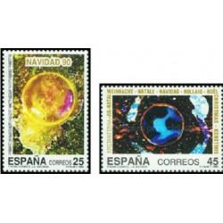 2 عدد تمبر کریستمس - اسپانیا 1990