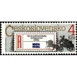 1 عدد تمبر صدمین سال اتیکت سفارشی-  چک اسلواکی 1986