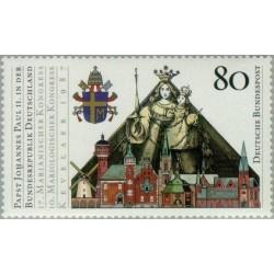 1 عدد تمبر بازدید پاپ ژان پل دوم از جمهوری فدرال آلمان - جمهوری فدرال آلمان 1987