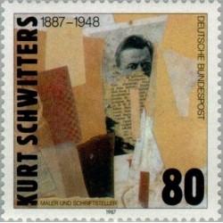 1 عدد تمبر یادبود کورت شویتر  - نقاش و نویسنده - جمهوری فدرال آلمان 1987