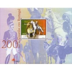 سونیر شیت دویستمین سالروز ژاندارمری - پرتغال 2001