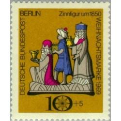 1 عدد تمبر کریستمس  - برلین آلمان 1969