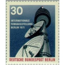 1 عدد تمبر نمایشگاه بین المللی رادیو و تلویزیون در برلین - برلین آلمان 1971