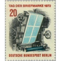 1 عدد تمبر روز تمبر - برلین آلمان 1972