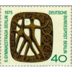 1 عدد تمبر نشان رویداد   Gymnaestrada- برلین آلمان 1975