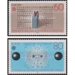 2 عدد تمبر مشترک اروپا - Europa Cept - اختراعات - جمهوری فدرال آلمان 1983 قیمت 3.5 دلار