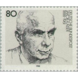 1 عدد تمبر صدمین سال تولد جاکوب کایزر - سیاستمدار - جمهوری فدرال آلمان 1988