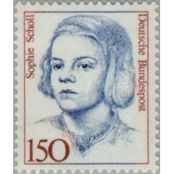 1 عدد تمبر سری پستی - زنان نامدار - جمهوری فدرال آلمان 1991