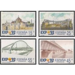 4 عدد تمبر نمایشگاه جهانی  اکسپو سویل - اسپانیا 1991