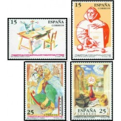 4 عدد تمبر شخصیتها - عبدالرحمن ثالث - اسپانیا 1991