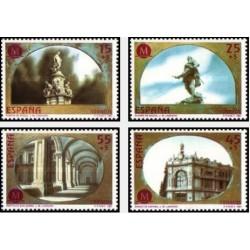 4 عدد تمبر مادرید پایتخت فرهنگی اروپا - اسپانیا 1991