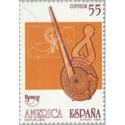 1 عدد تمبر دانشگاه غیرانتفاعی UPAEP آمریکا - اسپانیا 1991